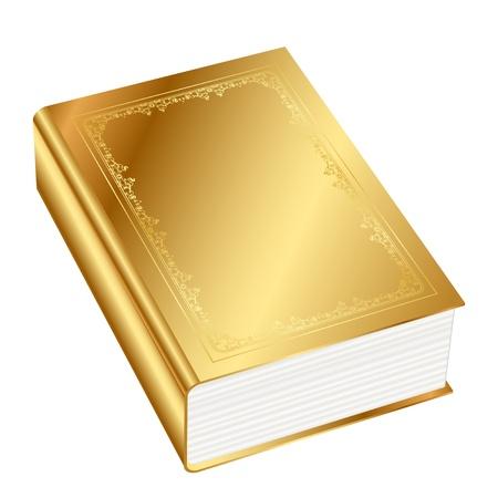 bibliophile:  illustration of gold book Illustration