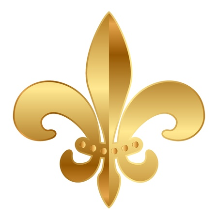 lys:  gold  Fleur-de-lis ornament