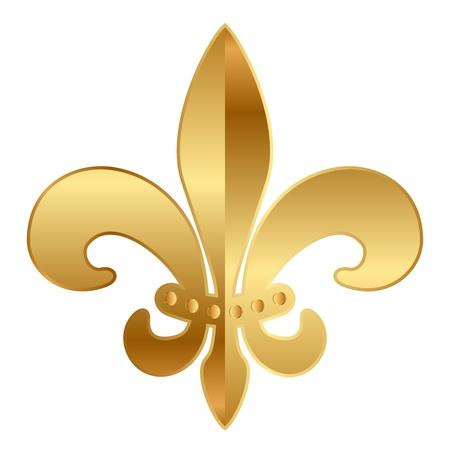 fleur: oro de la flor de lis ornamento