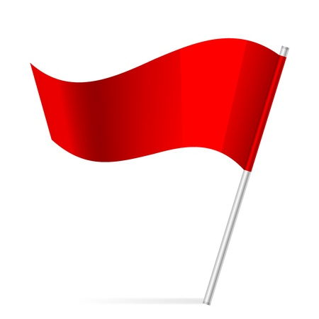 thumbtack:  illustration of flag
