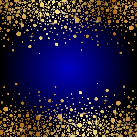 gold glitter:  blue and gold luxury background