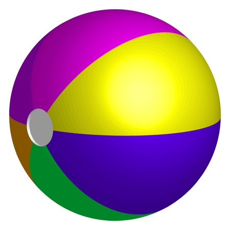 inflate: Vector illustration of colorful beach ball Illustration