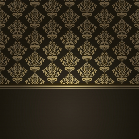 Vector square brown luxury background Vector