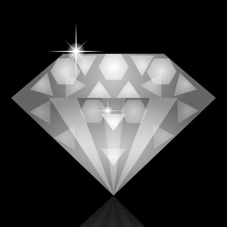 diamond clip art: Vector illustration of diamond Illustration