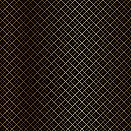confectioner: Vector gold net on black background