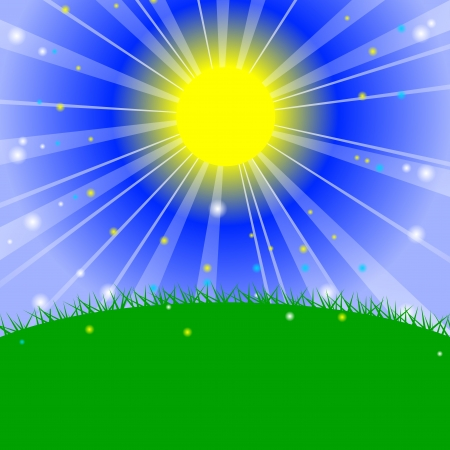 Vector illustration - Morning in the meadow Stock Vector - 18168530