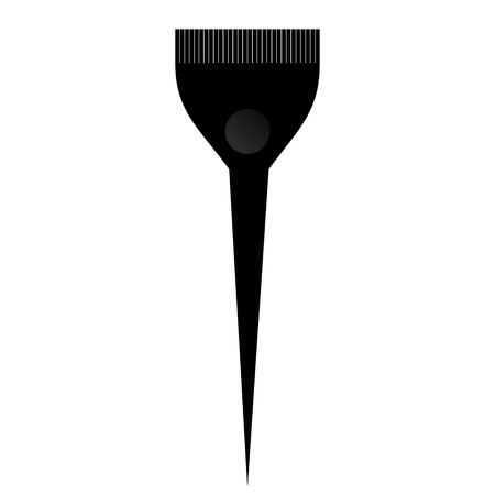 hair brush: Vector illustration of color brush Illustration