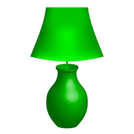 illustration of green lamp Stock Vector - 18177754