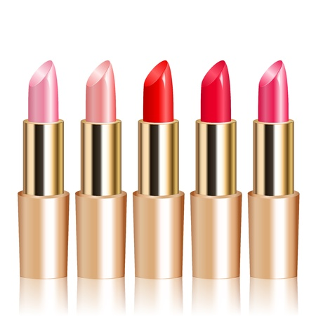 cosmetician: illustration of lipsticks