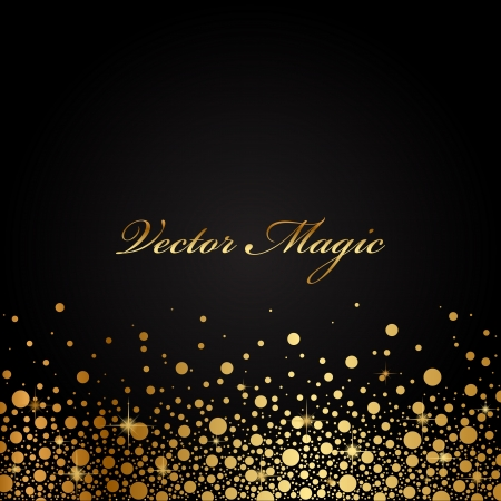 christmas border: Vector black and gold luxury background