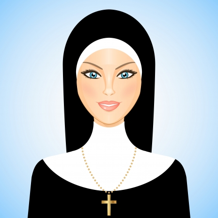 Vector illustration of nun Vector