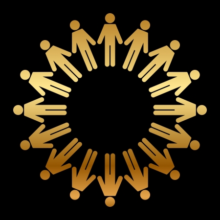 Vector icon of people standing in a circle Stock Vector - 18173194