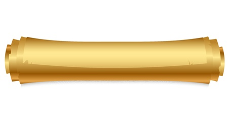 illustration of gold scroll Vector