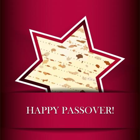 pesaj: Pascua tarjeta con matza Estrella de David forma