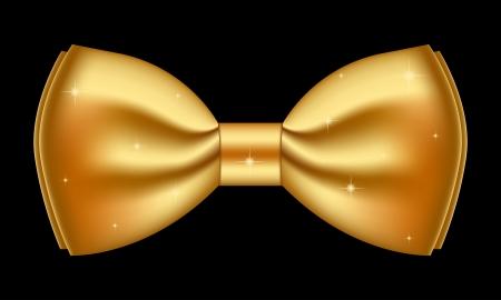 black bow: Vector illustration of shiny gold bow Illustration