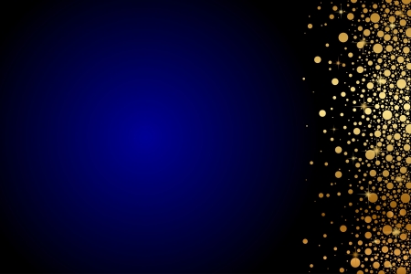 glam: Vector de fondo azul con oro confeti