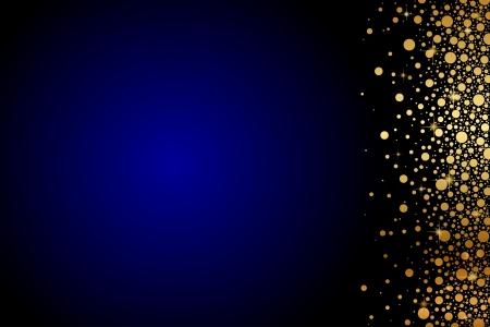 Vector fond bleu avec des confettis d'or