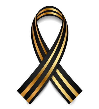 Vector black and gold St  George Ribbon Vector