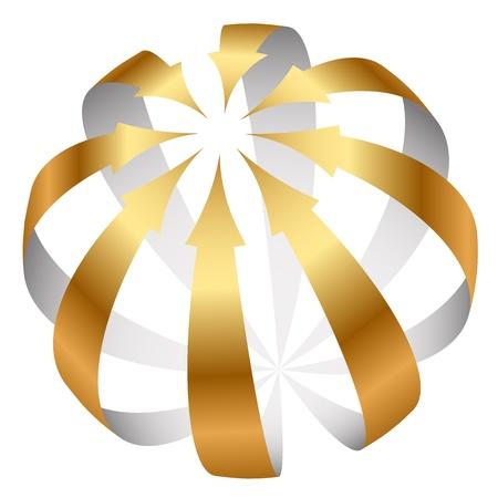 Vector gold arrows icon Stock Vector - 18775493
