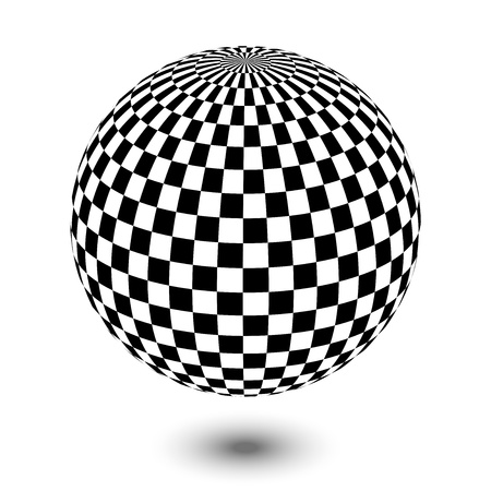 three dimensional shape: Vector illustration of black and white ball
