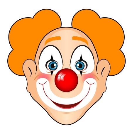 rosto: Ilustração do vetor do palhaço sorrindo
