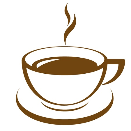 cappuccino: Vector icon of coffee cup