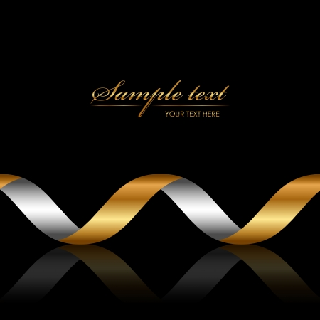 Vector background with gold ribbon Vector