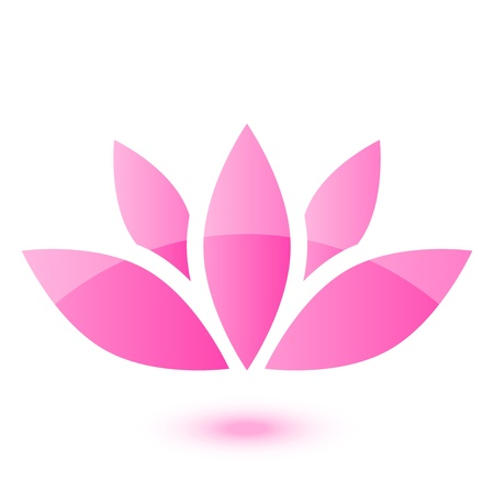 Vector lotus icon Vector