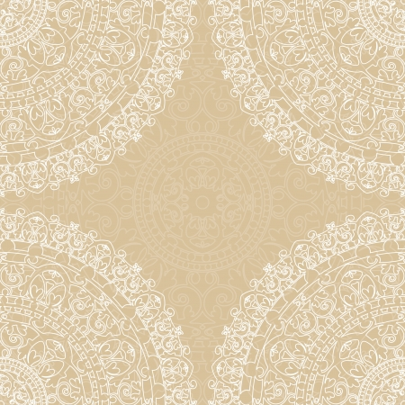 Vector beige frame with lace Vector