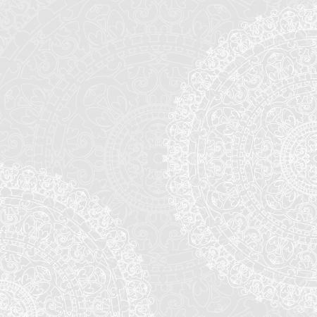 beige stof: Vector achtergrond met witte servetten Stock Illustratie