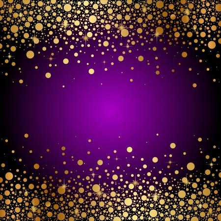 morado: Vector de fondo morado y oro de lujo Vectores