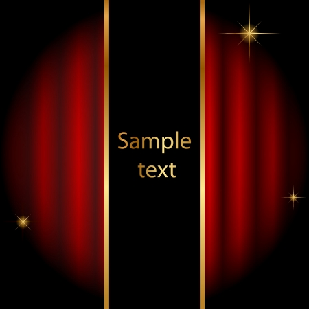 Vector stage background with sparkles Vector