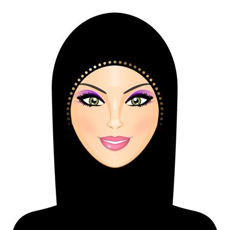 burka: Illustrazione vettoriale di donna araba