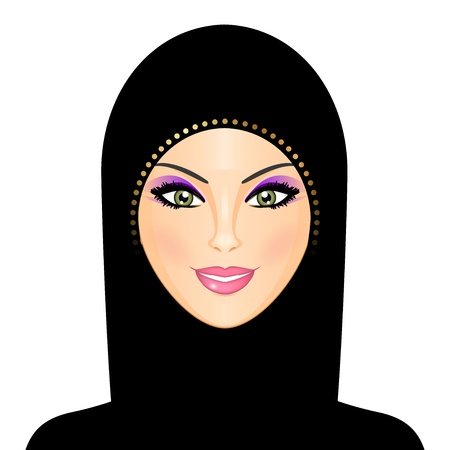 fille arabe: Vector illustration de la femme arabe