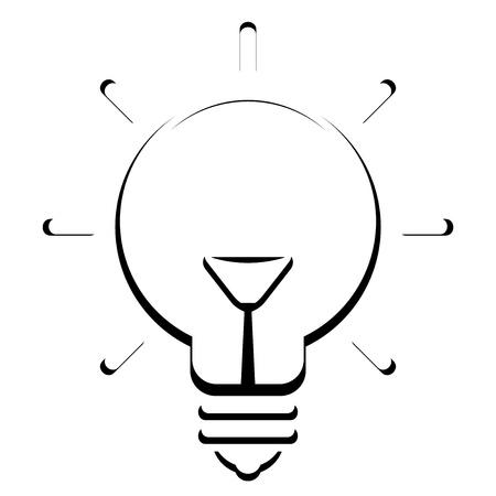 Vector bulb icon Stock Vector - 19059524