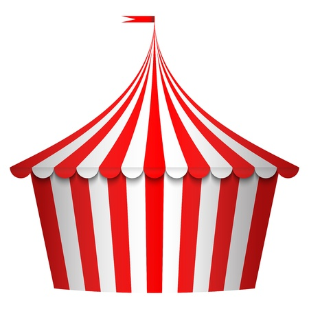 cirkusz: Vektoros illusztráció cirkuszi sátor