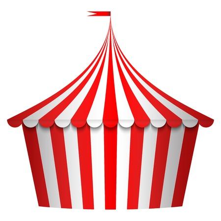 kopule: Vektorové ilustrace cirkusovém stanu