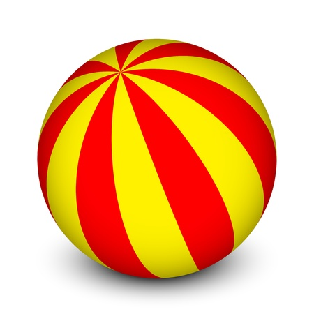 large ball: Vector red and yellow ball