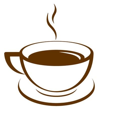 tazas de cafe: Icono del vector de la taza de café