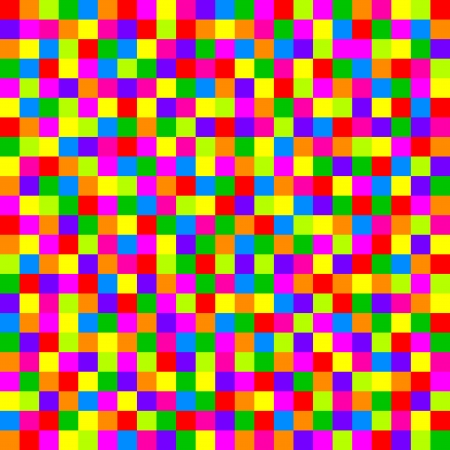toy box: Vector colorful checkered pattern