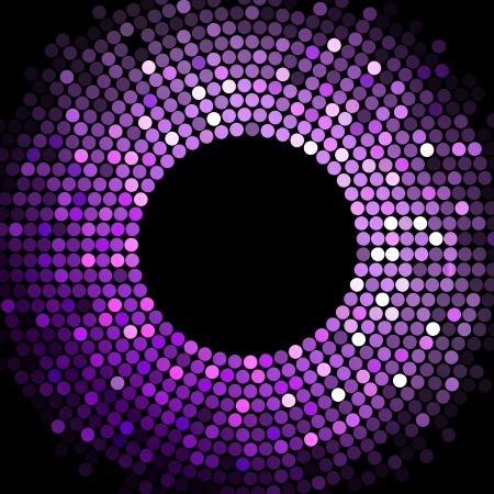 Vecteur lumières disco violet cadre Vecteurs