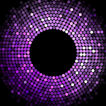 nightclub party: Vector disco lights  purple frame Illustration