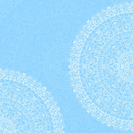 Vector blue background with ornaments Vector
