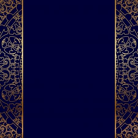 Wektor złoty ozdobny border Ilustracje wektorowe
