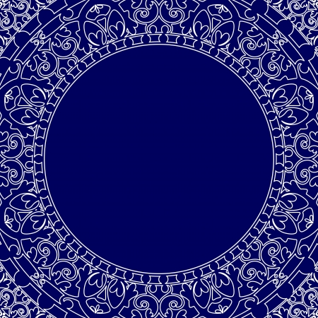 Vector porcelain style frame Vector