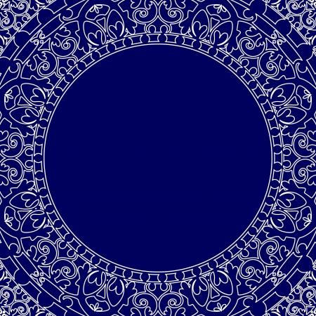 vitrage: Vector porcelain style frame