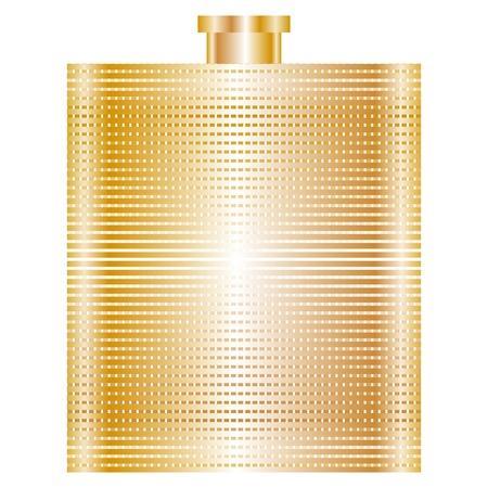 drunkard: Vector illustration of gold flask