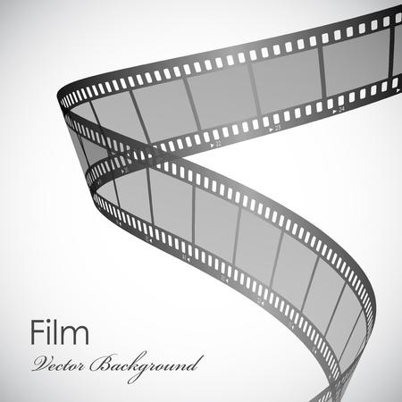 carrete de cine: Vector de fondo con tira de pel�cula Vectores