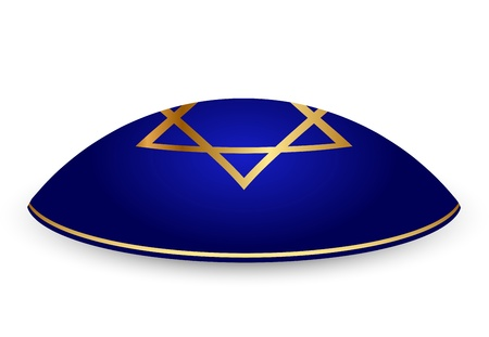 kippah: illustration of Kippar with David star