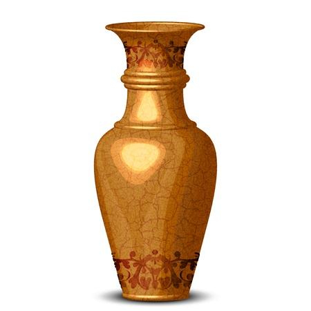 Illustration golden verzierten Vase